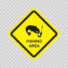 Fishing Area Sign 03216