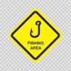 Fishing Area Sign 03217