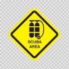 Scuba Area Sign Sign 03222