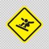 Ski Sports Area Sign 05006