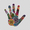 Floral Psychedelic Hand Right 05159