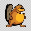 Cute Cartoon Beaver  05484