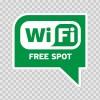 Wi Fi Free Spot Green 05778