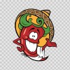 Mexican Red Hot Chili Pepper With Sombrero 05811