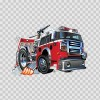 Caricature Fire Fighting Truck 05898