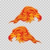 Tribal Flaming Eagle Head 06459