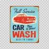 Full Service Car Wash Vintage Sign 07127