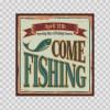 Fishing Club Vintage Sign 07288