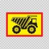 Back Vehicle Sign Dump Truck 08441