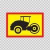 Back Vehicle Sign Steamroller 08443