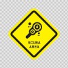 Scuba Area Sign 09011