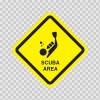 Scuba Area Sign 09014