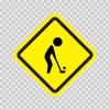 Golf Area Sign 09026