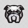 Dog Bulldog Head 09560