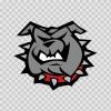 Dog Bulldog Head 09580