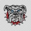 Dog Bulldog Head 09586