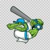 Gator Baseball Player 10401