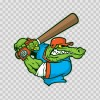 Gator Baseball Player 10411