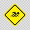 Swimming Area Sign 10645