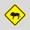 Wild Animals Area Sign 10664