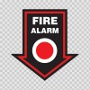 Fire Alarm Button Emergencies Signs 11159