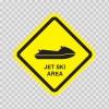 Jet Ski Area Sign 11475
