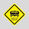 Tank Car Parking Sign 11539