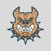 Angry Bulldog Head 11554