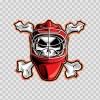 Baseball Crossbone Skull 11697