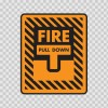 Fire Alarm Pull Down Sign 11726