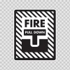 Fire Alarm Pull Down Sign 11728