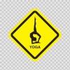 Yoga Room Sign 11843