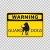 Warning Guard Dogs Rodvailer Sign 12104