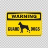 Warning Guard Dogs Boxer Bulldog Sign 12105