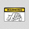 Warning Guard Dogs On Patrol Sign 12134