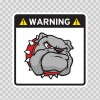 Warning Guard Bulldog Sign 12147