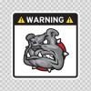 Warning Guard Bulldog Sign 12150