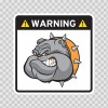 Warning Guard Bulldog Sign 12152