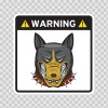 Warning Guard Bulldog Sign 12155