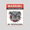 Warning Attack Dog On Premises. No Trespassing 12842