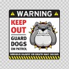 Warning Keep Out Guard Dogs On Patrol 12861