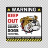 Warning Keep Out Guard Dogs On Patrol 12863