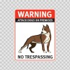 Warning Attack Dog On Premises. No Trespassing 12864