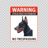 Warning Attack Dog On Premises. No Trespassing 12873