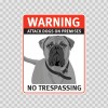 Warning Attack Dog On Premises. No Trespassing 12877