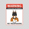 Warning Attack Dog On Premises. No Trespassing 12882