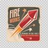 Vintage Fireworks Sign 13243