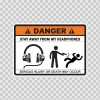 Danger Funny Stay Away From My Headphones 13552