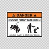 Danger Funny Stay Away From My Game Console 13576