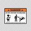 Danger Funny Do Not Disturb The Bbq Man 13597